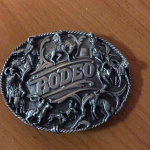 Accessories - Pewter rodeo belt buckle